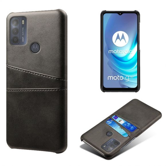 Coque Motorola Moto G50 Mélodie effet cuir porte cartes