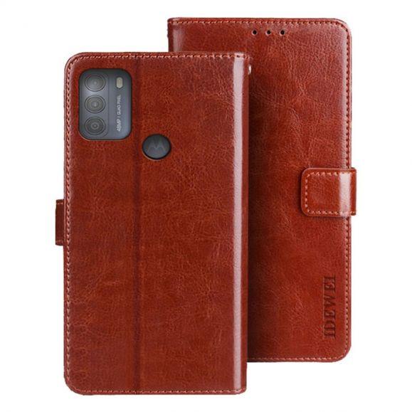 Housse Motorola Moto G50 IDEWEI Folio Effet Cuir