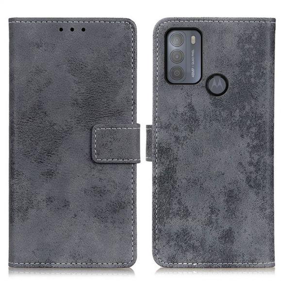 Housse Motorola Moto G50 Cyrius simili cuir vintage