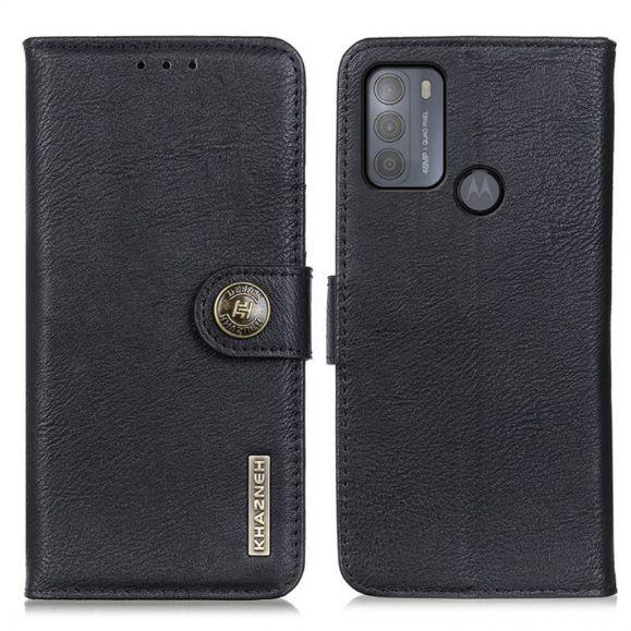 Housse Motorola Moto G50 KHAZNEH Effet Cuir Porte Cartes