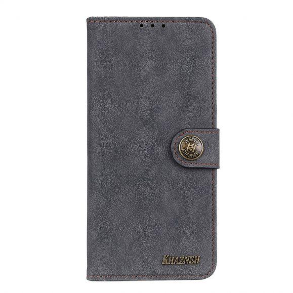 Housse Nokia 5.4 effet cuir rétro KHAZNEH