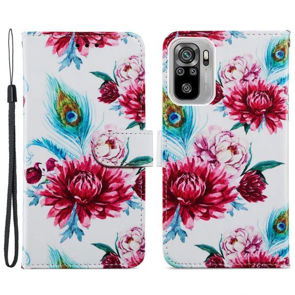 Housse Xiaomi Redmi Note 10 / Note 10s Paon fleur