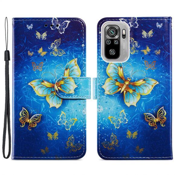 Housse Xiaomi Redmi Note 10 / Note 10s Golden Butterfly