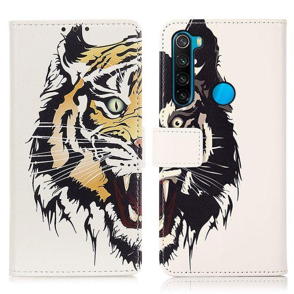 Housse Xiaomi Redmi Note 8 2021 Tigre féroce