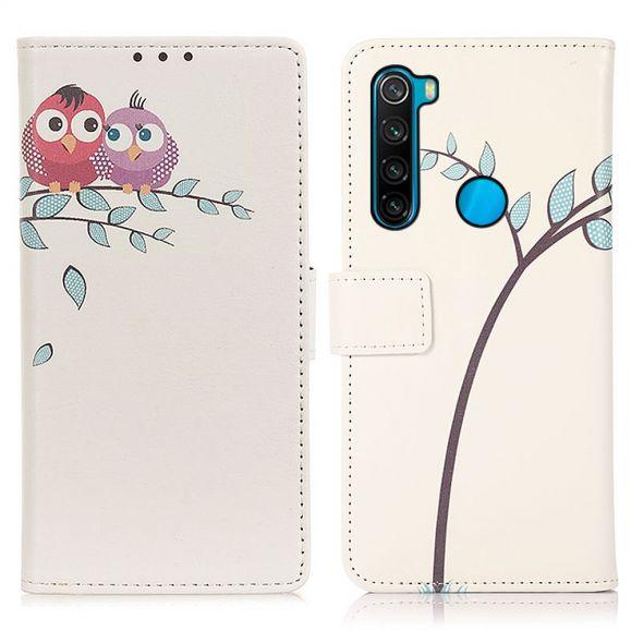 Housse Xiaomi Redmi Note 8 2021 Couple de hiboux