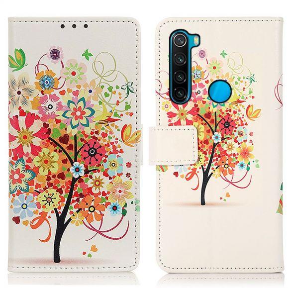 Housse Xiaomi Redmi Note 8 2021 Arbre à fleurs