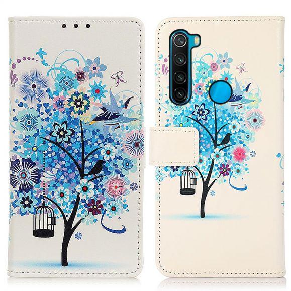 Housse Xiaomi Redmi Note 8 2021 Arbre bleu