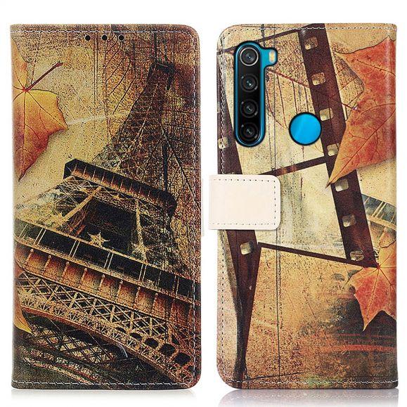 Housse Xiaomi Redmi Note 8 2021 Tour Eiffel en Automne