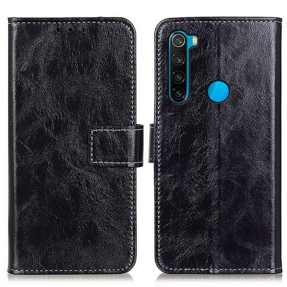 Housse Xiaomi Redmi Note 8 2021 effet cuir luxueux coutures