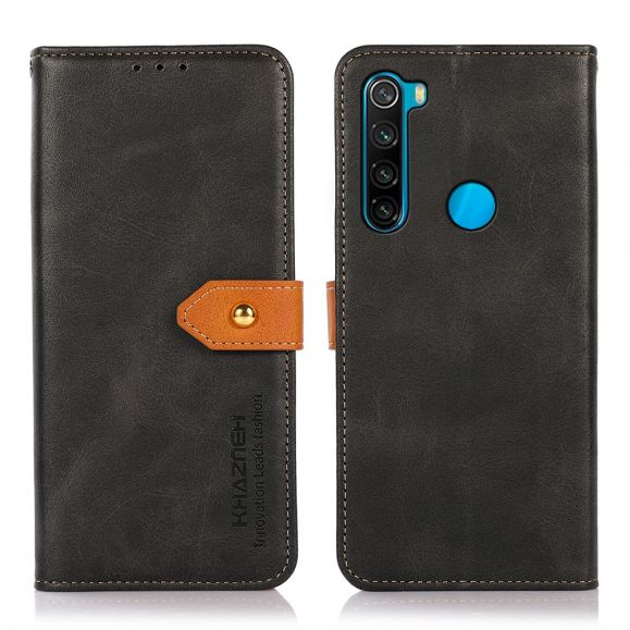 Housse Xiaomi Redmi Note 8 2021 KHAZNEH Bicolore simili cuir