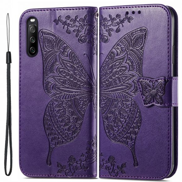 Housse Sony Xperia 10 III Papillon Relief