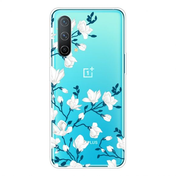 Coque OnePlus Nord CE 5G fleurs blanches