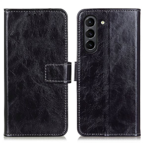 Housse Samsung Galaxy S21 FE effet cuir luxueux coutures