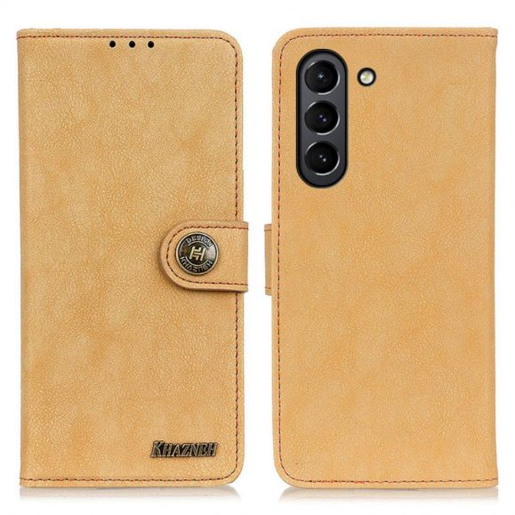 Housse Samsung Galaxy S21 FE effet cuir rétro KHAZNEH