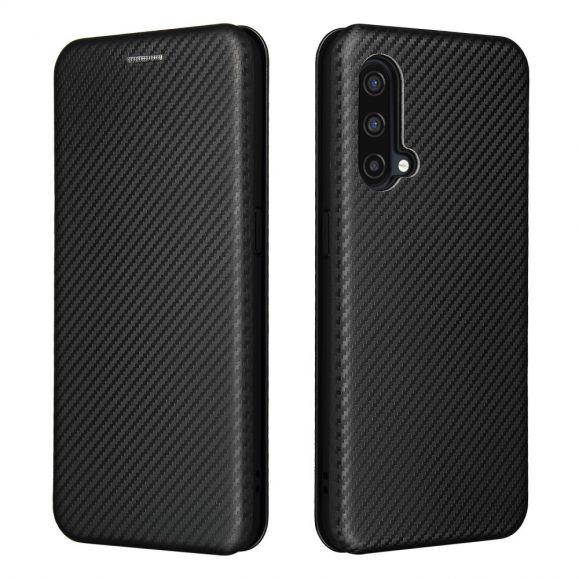 Housse OnePlus Nord CE 5G simili cuir style fibre de carbone