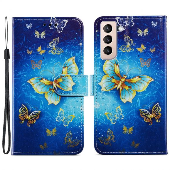 Housse Samsung Galaxy S21 Plus 5G Golden Butterfly
