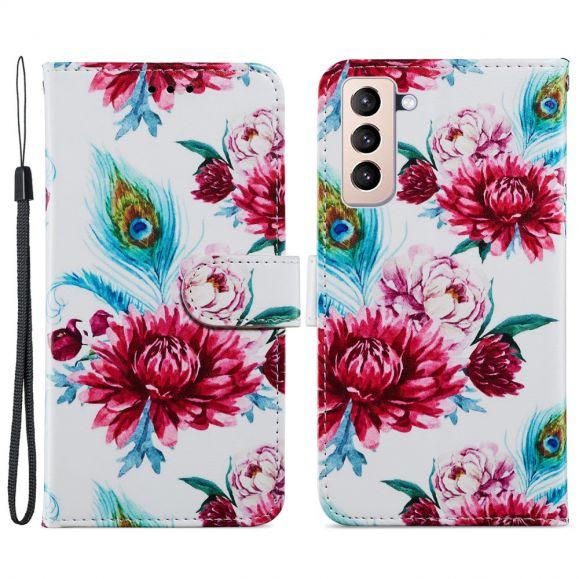 Housse Samsung Galaxy S21 Plus 5G Paon fleur