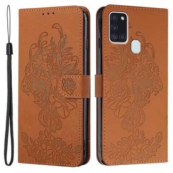 Housse Samsung Galaxy A21s Design Tigre