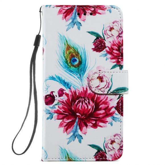 Housse iPhone 12 / 12 Pro Paon fleur