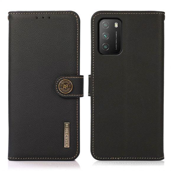 Housse Xiaomi Poco M3 KHAZNEH Classic en cuir