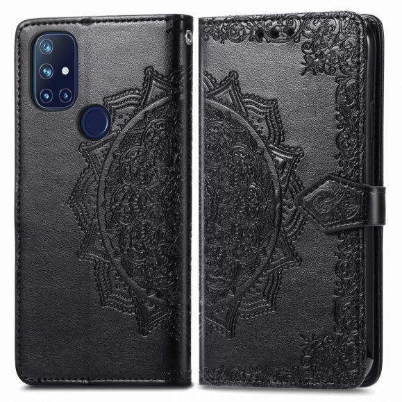 Housse OnePlus Nord N10 5G Mandala relief en simili cuir