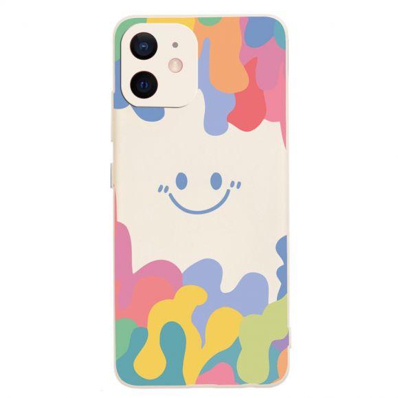 Coque iPhone 12 Splash Smiling en silicone