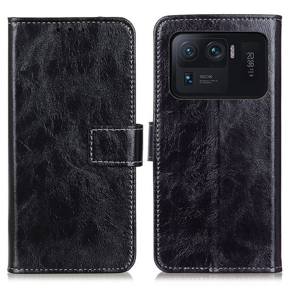 Housse Xiaomi Mi 11 Ultra effet cuir luxueux coutures