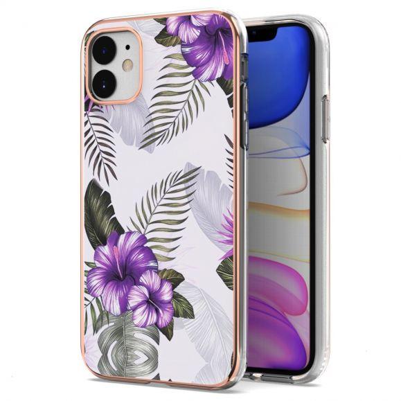 Coque iPhone 11 Fleurs Exotiques