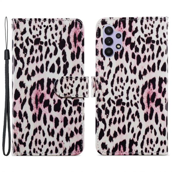 Housse Samsung Galaxy A32 5G Motif Leopard