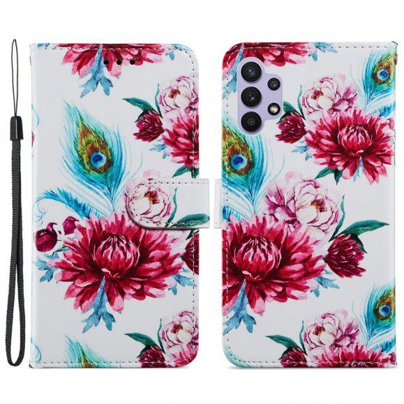 Housse Samsung Galaxy A32 5G Paon fleur