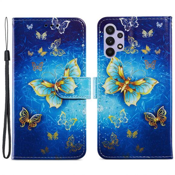 Housse Samsung Galaxy A32 5G Golden Butterfly