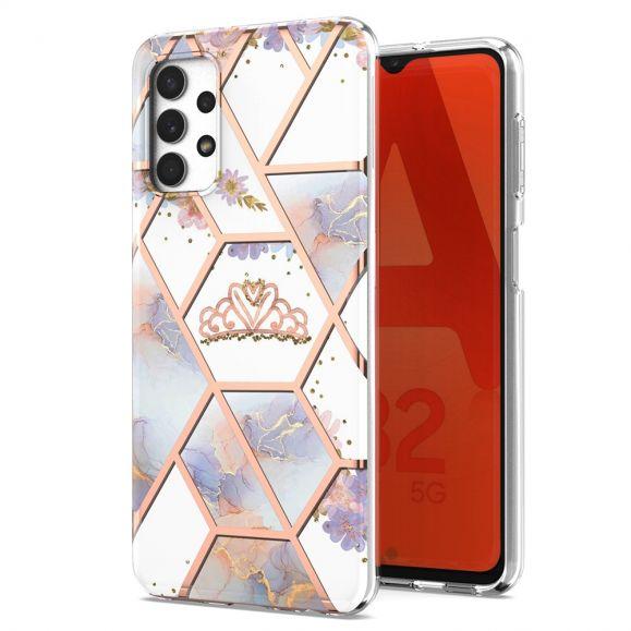 Coque Samsung Galaxy A32 5G marbre et couronne
