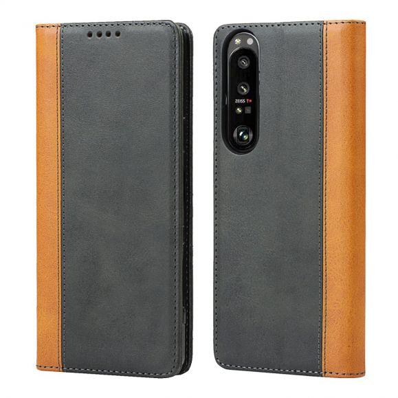 Housse Sony Xperia 1 III LISA simili cuir bicolore