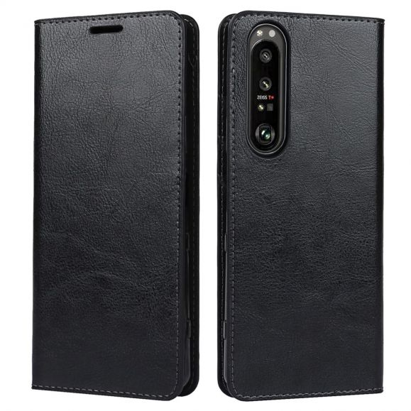 Housse Sony Xperia 1 III Cuir Porte Cartes Fonction Support