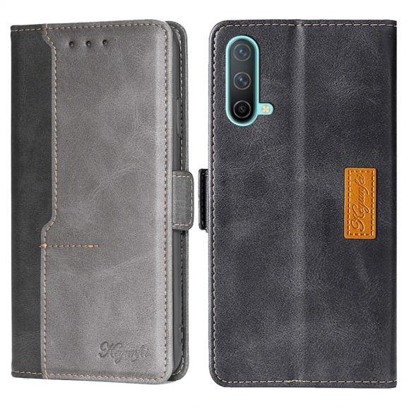 Housse OnePlus Nord CE 5G Keyunfei simili cuir bicolore