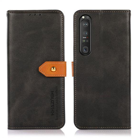 Housse Sony Xperia 1 III KHAZNEH Bicolore simili cuir