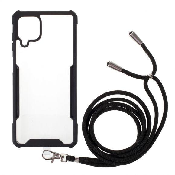 Coque Samsung Galaxy A12 / M12 SANA transparent à cordon