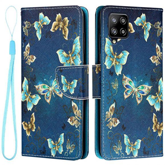 Housse Samsung Galaxy A22 4G papillons volants