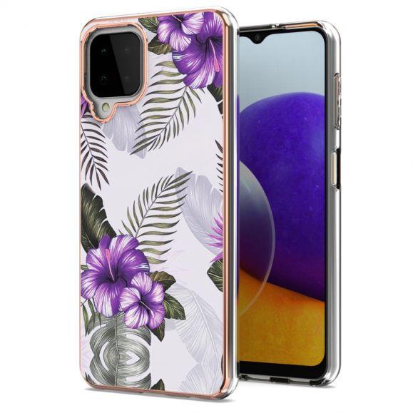 Coque Samsung Galaxy A22 4G Fleurs Exotiques