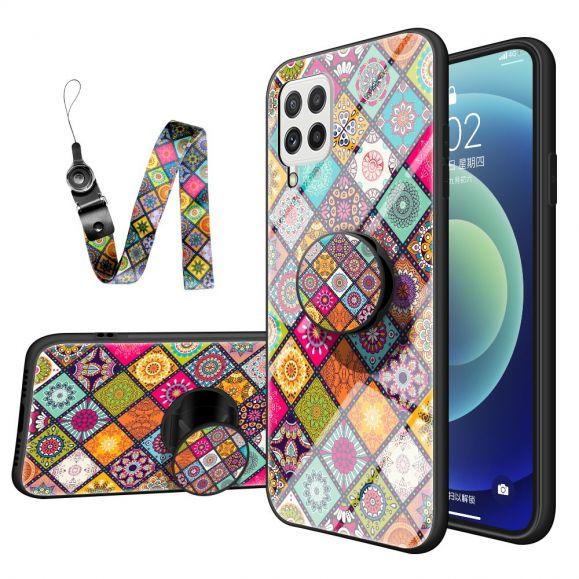 Coque Samsung Galaxy A22 4G Kaleidoscope Mandala avec support