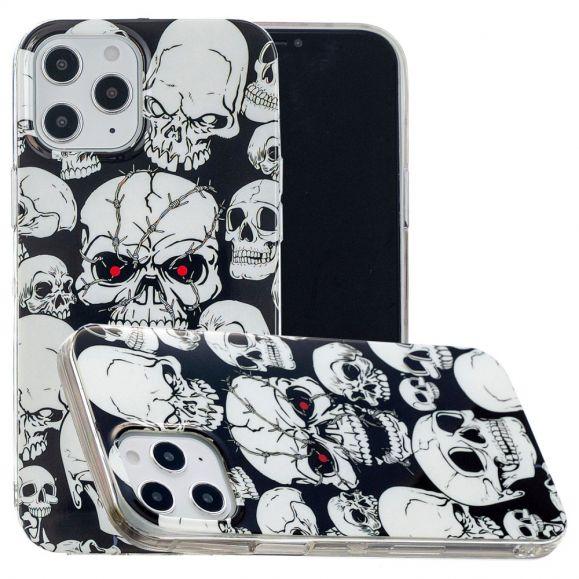 Coque iPhone 12 Pro Max Luminous tête de mort