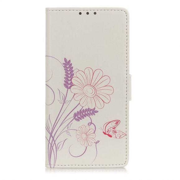 Housse Oppo Find X3 Lite Illustration Fleurs et Papillon