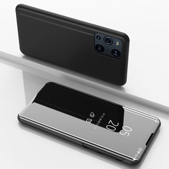 Coque Oppo Find X3 / X3 Pro avec rabat effet miroir