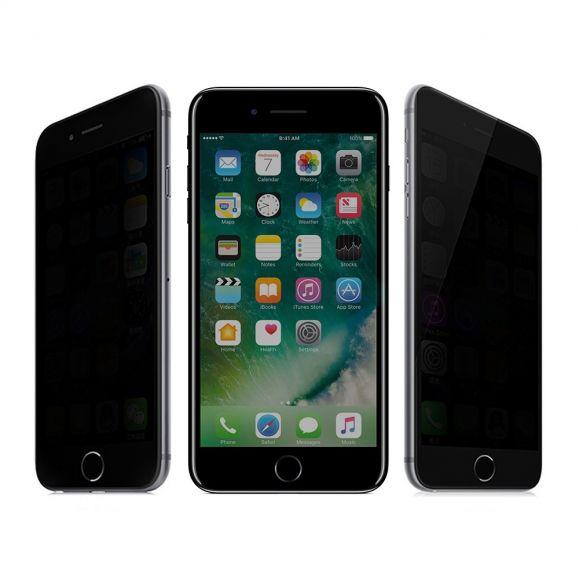 Protection d'écran iPhone 8 Plus / 7 Plus verre trempé et filtre de confidentialité