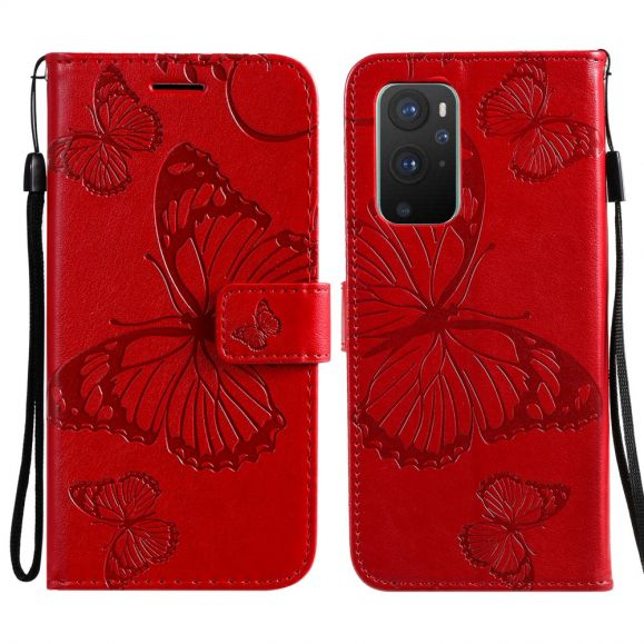 Housse OnePlus 9 Papillons fonction support