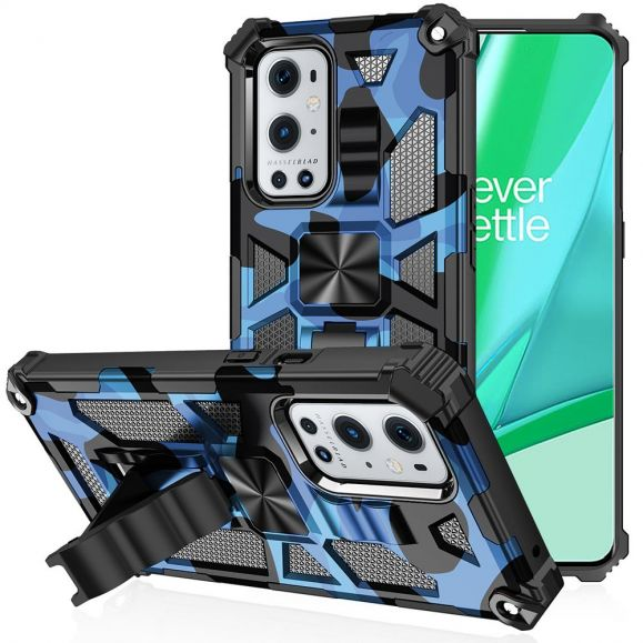 Coque OnePlus 9 Pro Camouflage Militaire Fonction Support