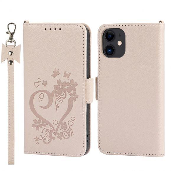 Housse iPhone 12 mini Coeur Fleuri