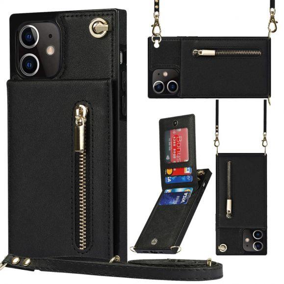 Coque iPhone 12 mini Porte-Cartes Business à cordon