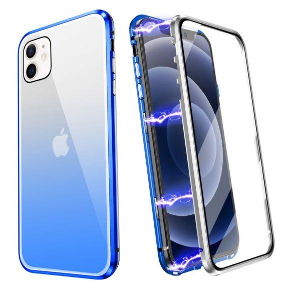 Coque iPhone 12 mini intégrale 360 degrés degradé de couleurs