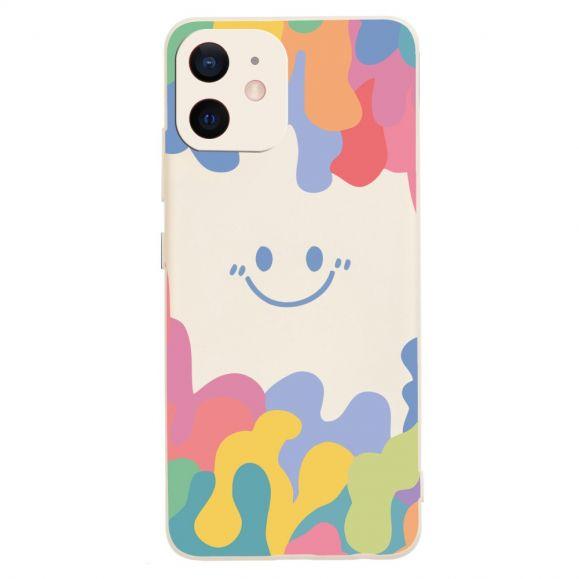 Coque iPhone 12 mini Splash Smiling en silicone